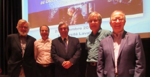 De g. à d. André Dorval, Robert Trudel, Denis Racine, Jacques Fortin, Roger Barrette