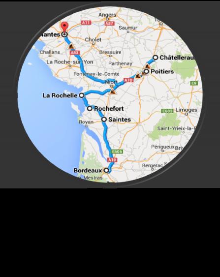 Circuit réalisé du 17 septembre au 6 octobre 2015