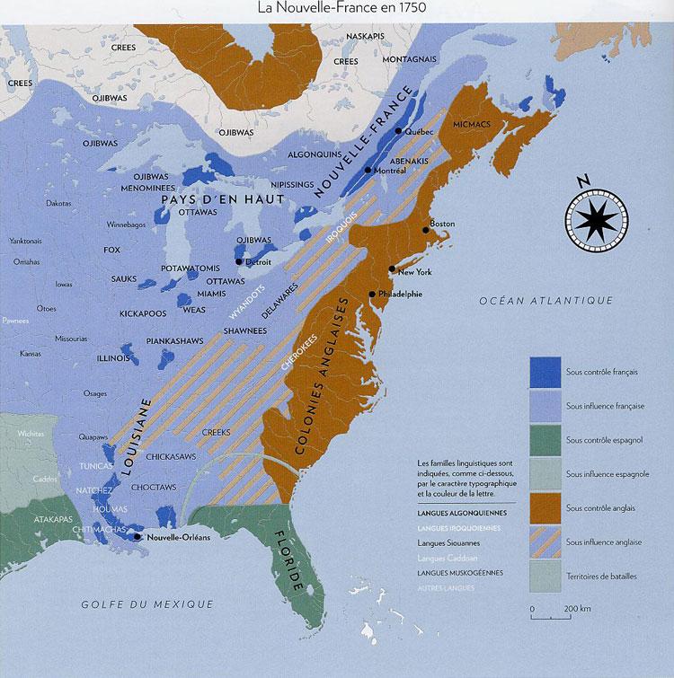 La Nouvelle-France en 1750