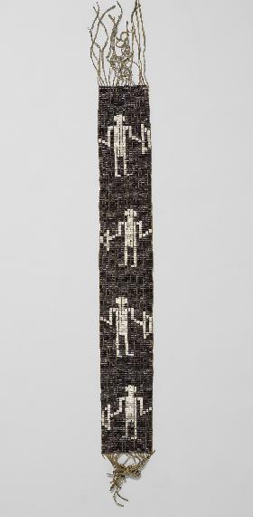 Ceinture wampum. Grands Lacs occidentaux. XVIIIe siècle. Ancienne collection Bibliothèque Nationale
