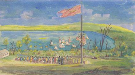 Course en berge, « Souvenirs et mémoires illustrés, Mission Ste Croix, Grande Île Manitouline »