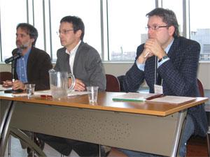 Ollivier Hubert, vice-président de l'IHAF, Alain Beaulieu, président, Michel Bock, secrétaire-trésorier