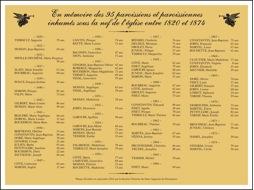 Mémorial des « 95 paroissiens et paroissiennes inhumés sous la nef de l'église »