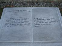 Photo 2b Texte du mémorial « Cimetière de l'Anse-à-Mathieu »