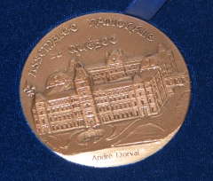 Médaille de l'Assemblée nationale du Québec.