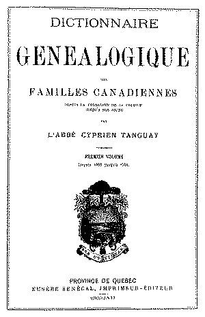 Dictionnaire généalogique