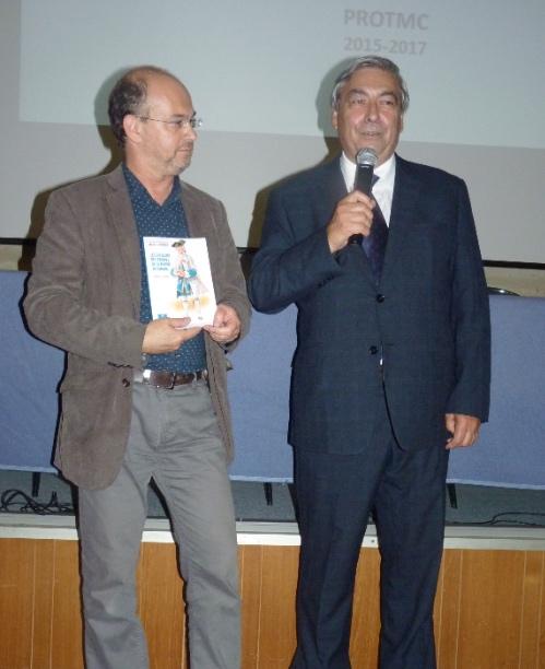De g. à d. Denis Roland et Denis racine